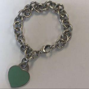 Tiffany and co RTT Blue Enamel Heart Bracelet